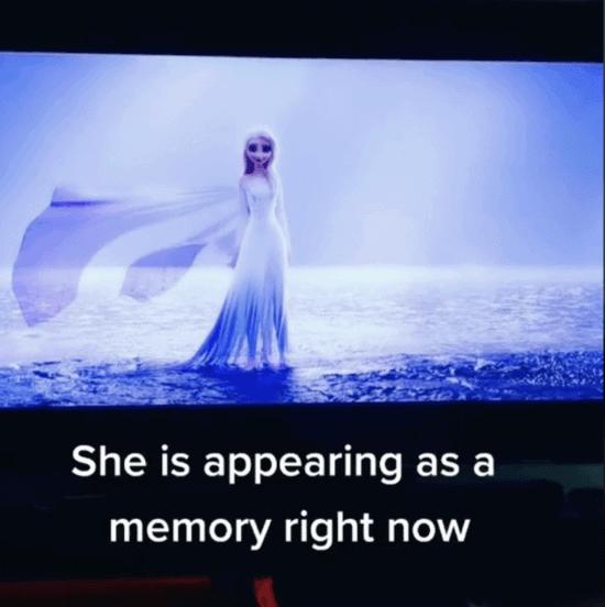 elsa water has memories
