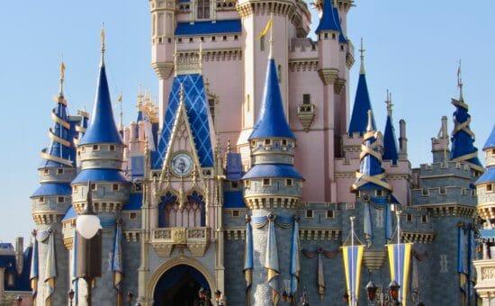 Cinderella castle decoration 50th anniversary