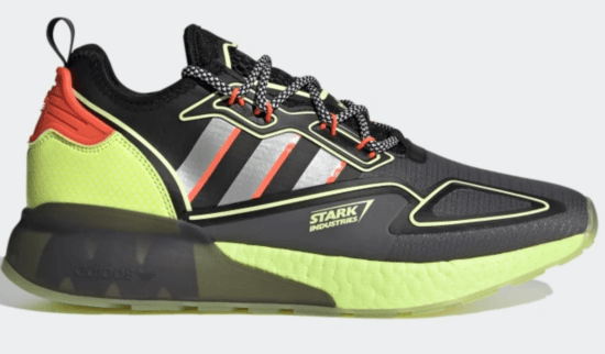 Grey Five Stark Industries Adidas sneakers