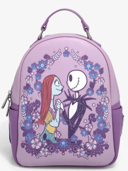 Loungefly Disney The Nightmare Before Christmas Spring Floral Mini Backpack