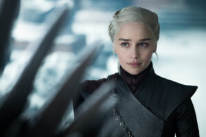 emilia clarke as khaleesi in game of thrones