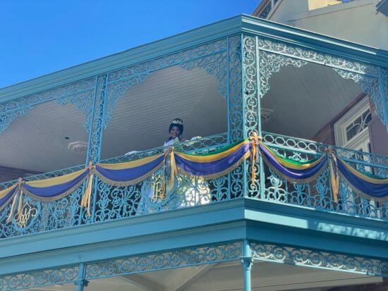 Tiana in new orleans square