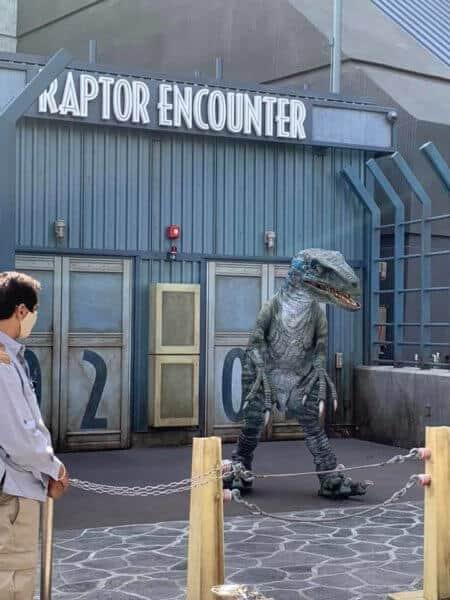 Raptor Encounter Universal Studios Hollywood