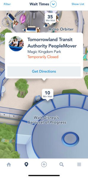 peoplemover temporarily closed