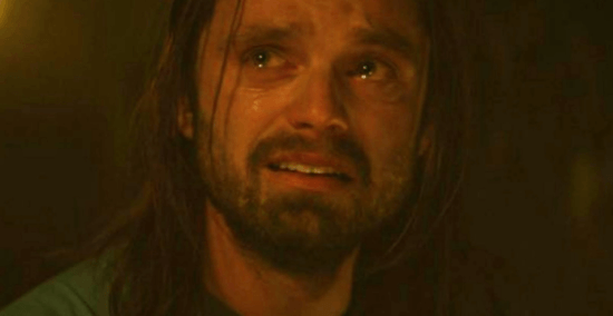 Sebastian stan as bucky barnes aka winter soldier crying scene