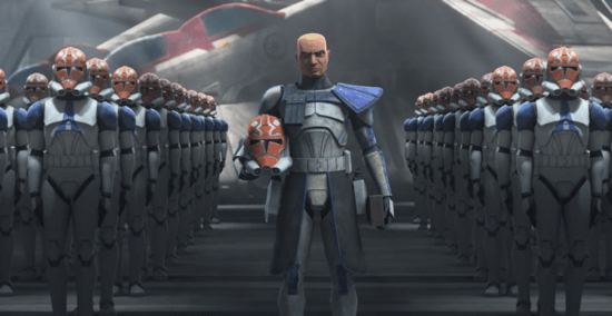 captain rex with Clone Army