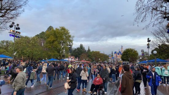 Main Street Crowd Disneyland
