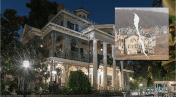 haunted mansion with inset