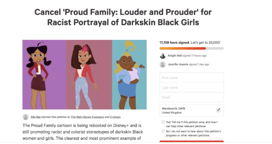 The Proud Family racist