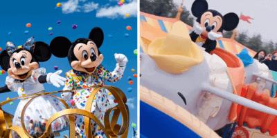Mickey riding Dumbo