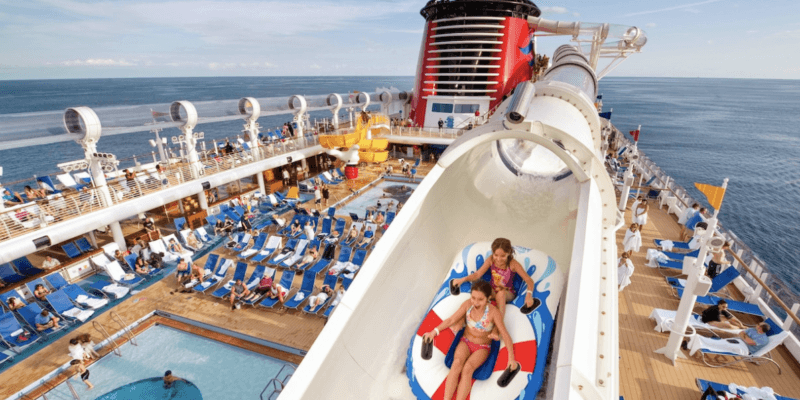 aquaduck water slide disney cruise line
