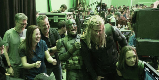 avengers cast laughing behind the scenes