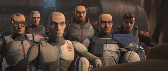 Clone Force 99 with Captain Rex