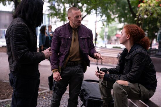 batroc with karli morgentahu falcon and winter soldier