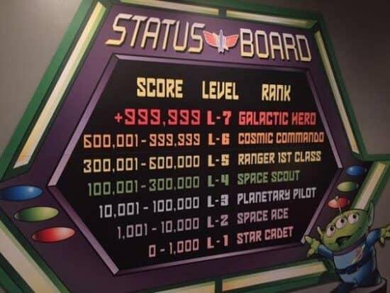 buzz light year scoreboard galactic hero