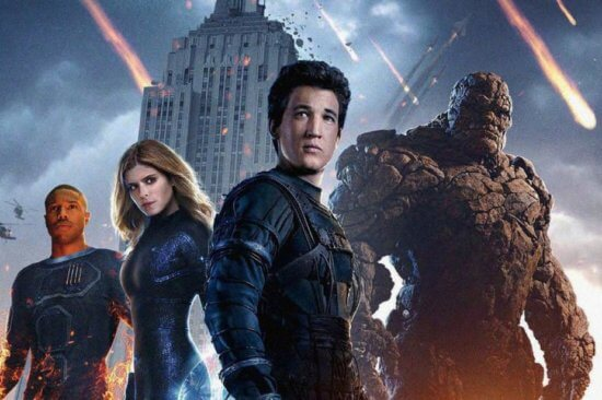 Fantastic Four reboot L-R: Human Torch, Invisible Woman, Mister Fantastic, Thing