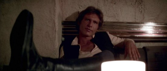 han solo at mos eisley cantina in a new hope
