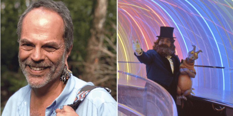 joe rohde (left) and journey into imagination (right)
