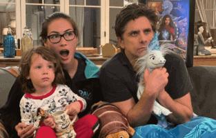 john stamos and family watching raya