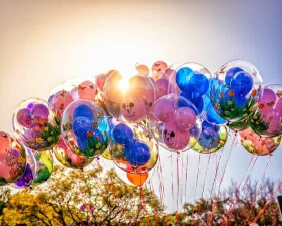 balloons at disneyland resort