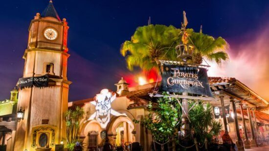 pirates of the caribbean ride at walt disney world
