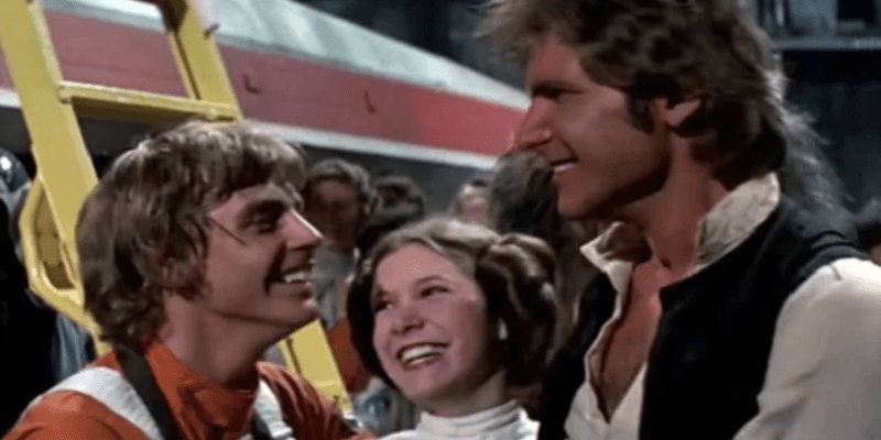 star wars a new hope luke leia and han (from left)