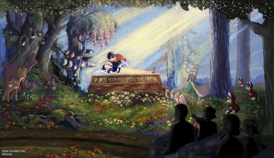 newly reimagined snow white ride