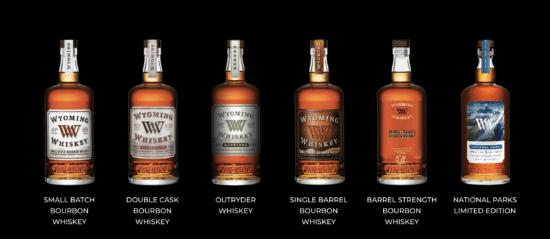 wyoming whiskey bottles