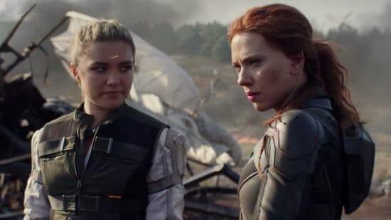 yelena belova (left) and natasha romanoff (right) in black widow