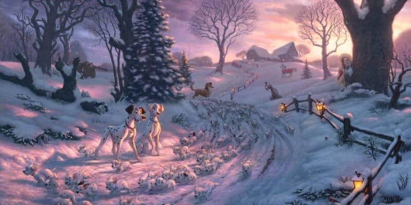 Disney - 101 Dalmatians on the Run thomas kinkade studios