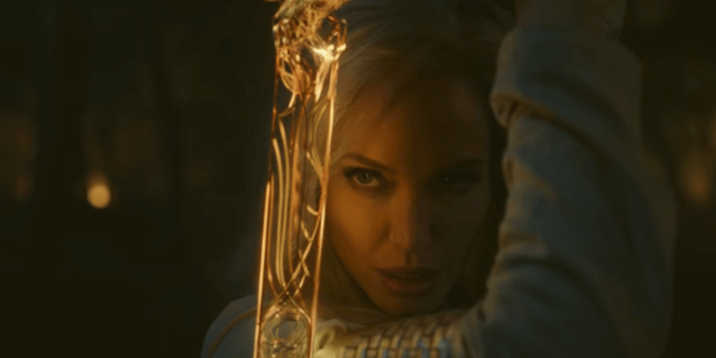 angelina jolie as thena in the eternals