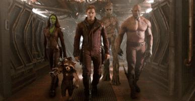 guardians of the galaxy from left: zoe saldana as gamaora, bradley cooper sean gunn as rocket raccoon, chris pratt as peter quill aka star lord, vin diesel as groot, dave bautista as drax the destroyer