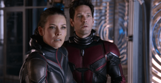 hope pym (left) and scott lang (right) in ant-man and the wasp