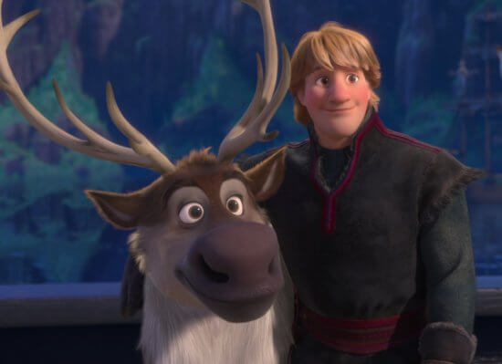 sven (left) and kristoff (right) frozen