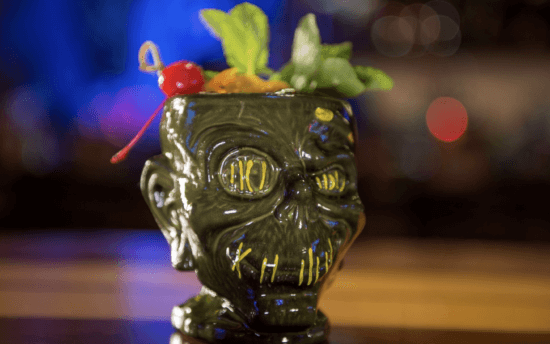 zombie head cocktail trader sam's grog grotto