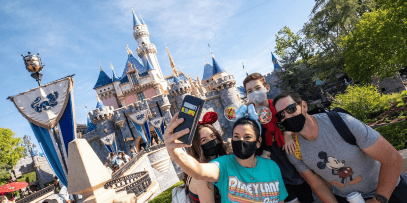 disneyland theme park guests