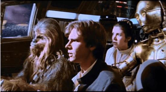 asteroid field scene empire strikes back
