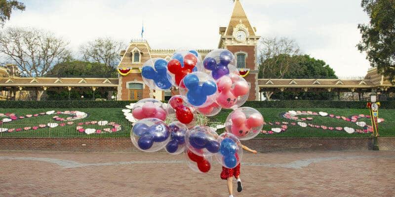 disneyland train station and balloons