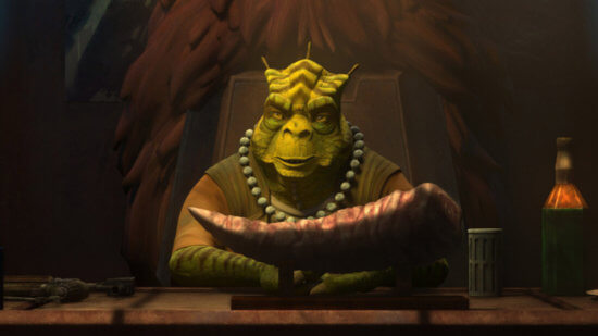 """Cid in a scene from """"STAR WARS: THE BAD BATCH"""", exclusively on Disney+. © 2021 Lucasfilm Ltd. & ™. All Rights Reserved."""