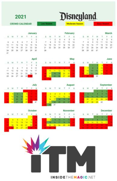 disneyland crowd calendar 2021