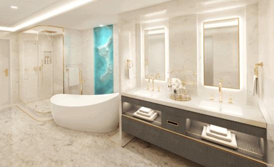 disney wish tower suite bathroom
