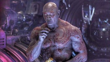 drax eating chips