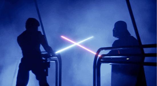 empire strikes back lightsaber duel
