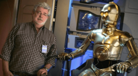 george lucas and c-3po star tours