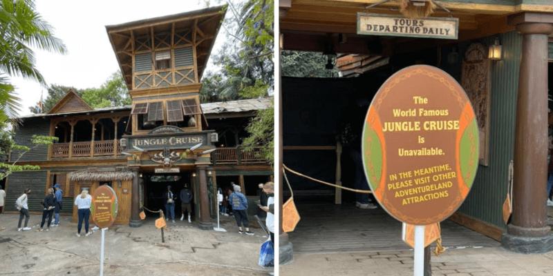 jungle cruise river closed sign disneyland