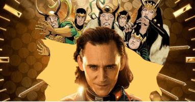 tom hiddleston as loki with comic book variants