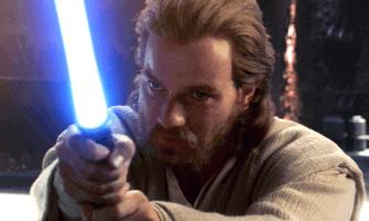 obi-wan kenobi with lightsaber