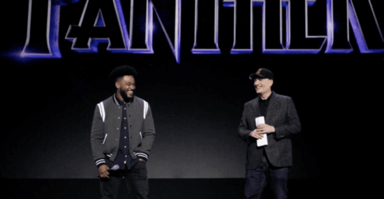 ryan coogler (left) and kevin feige (right)
