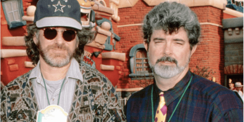 steven spielberg (left) and george lucas (right)
