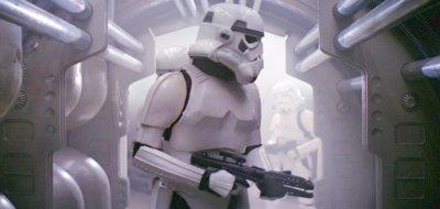 stormtrooper holding blaster